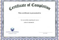 Free Printable Certificate Templates Of Completion Template throughout Pages Certificate Templates