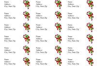 Free Printable Christmas Labels Templates  Christmas Address Labels for 3X8 Label Template