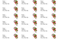 Free Printable Christmas Labels Templates  Christmas Address Labels Within Return Address Labels Template 30 Per Sheet
