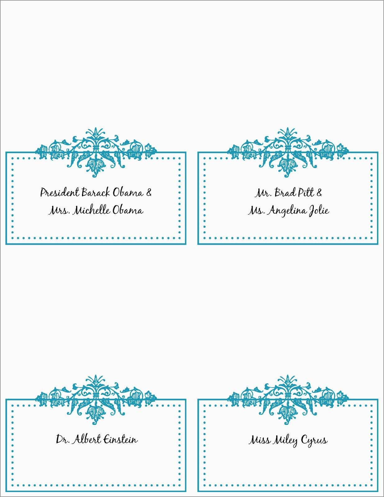 Free Printable Christmas Table Place Cards Template Lovely  Best Of Pertaining To Christmas Table Place Cards Template
