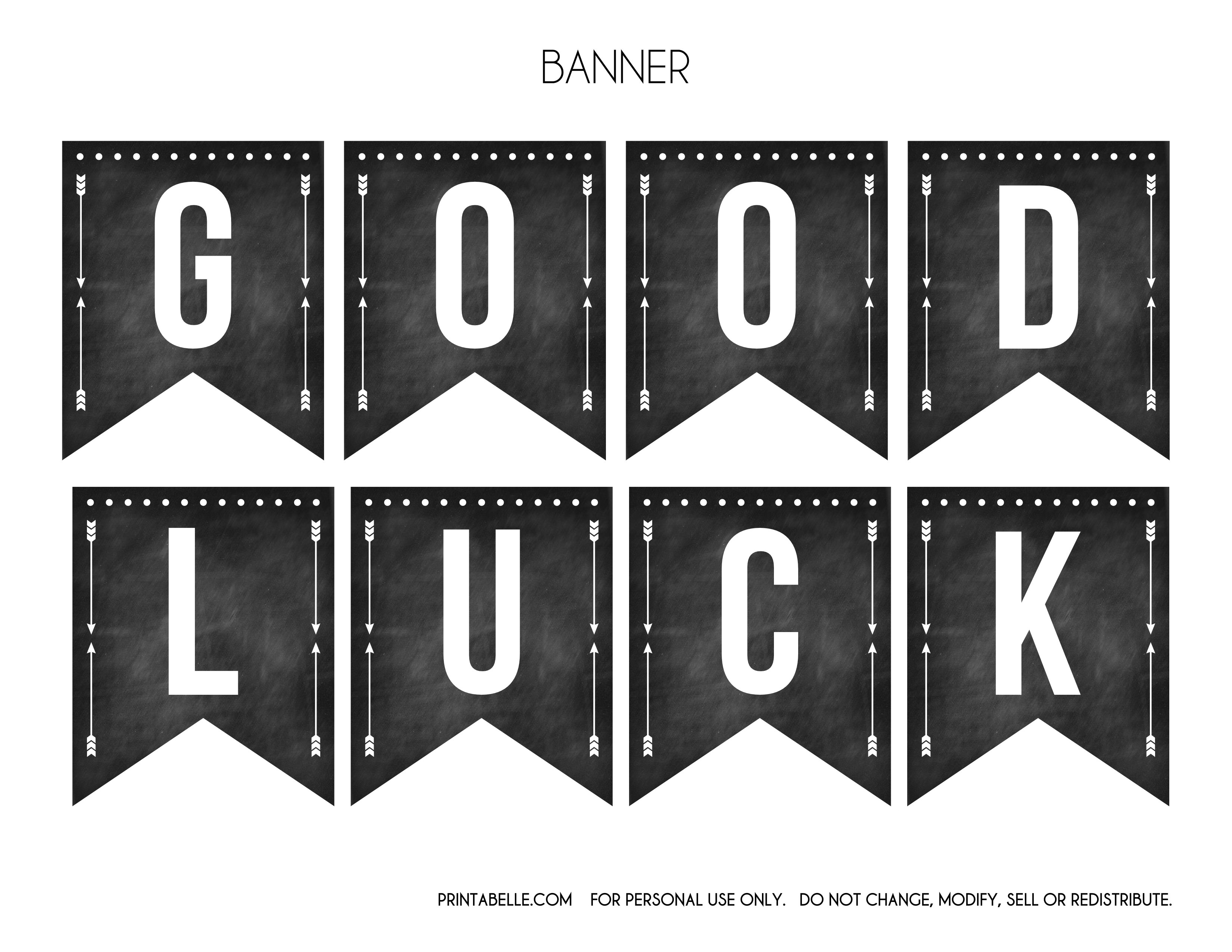 Free Printable Good Luck Banners Inside Good Luck Banner Template