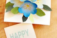 Free Printable Happy Birthday Card With Pop Up Bouquet  A Piece Of in Free Pop Up Card Templates Download