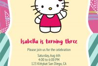 Free Printable Hello Kitty Birthday Invitation Card Template intended for Hello Kitty Birthday Card Template Free