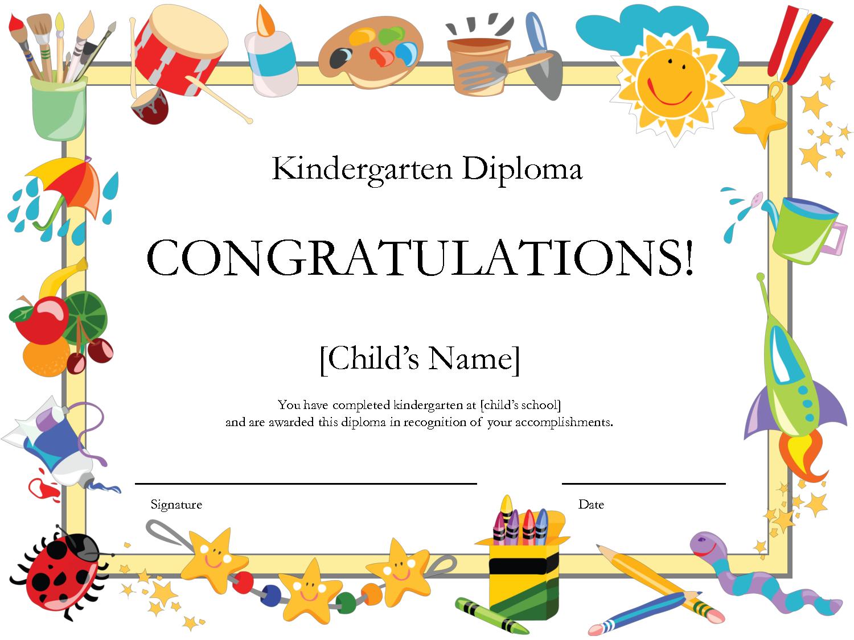 Free Printable Kindergarten Diplomaprintshowergames Megipu Inside Free Printable Graduation Certificate Templates