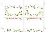 Free Printable Lemon Squeezy Day  Place Cards  Christmas pertaining to Table Name Cards Template Free