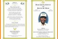 Free Printable Memorial Card Template New Obituary Word With for Memorial Card Template Word
