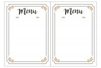 Free Printable Menu Template Templates For Kids New Awesome with regard to Menu Template Free Printable