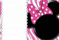 Free Printable Minnie Mouse Birthday Invitations – Bagvania Free with regard to Minnie Mouse Card Templates