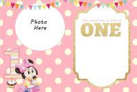 Free Printable Minnie Mouse St Invitation  Talli  Minnie Mouse with Minnie Mouse Card Templates