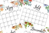 Free Printable Monthly Calendar  Bloggers' Best Diy Ideas within Month At A Glance Blank Calendar Template