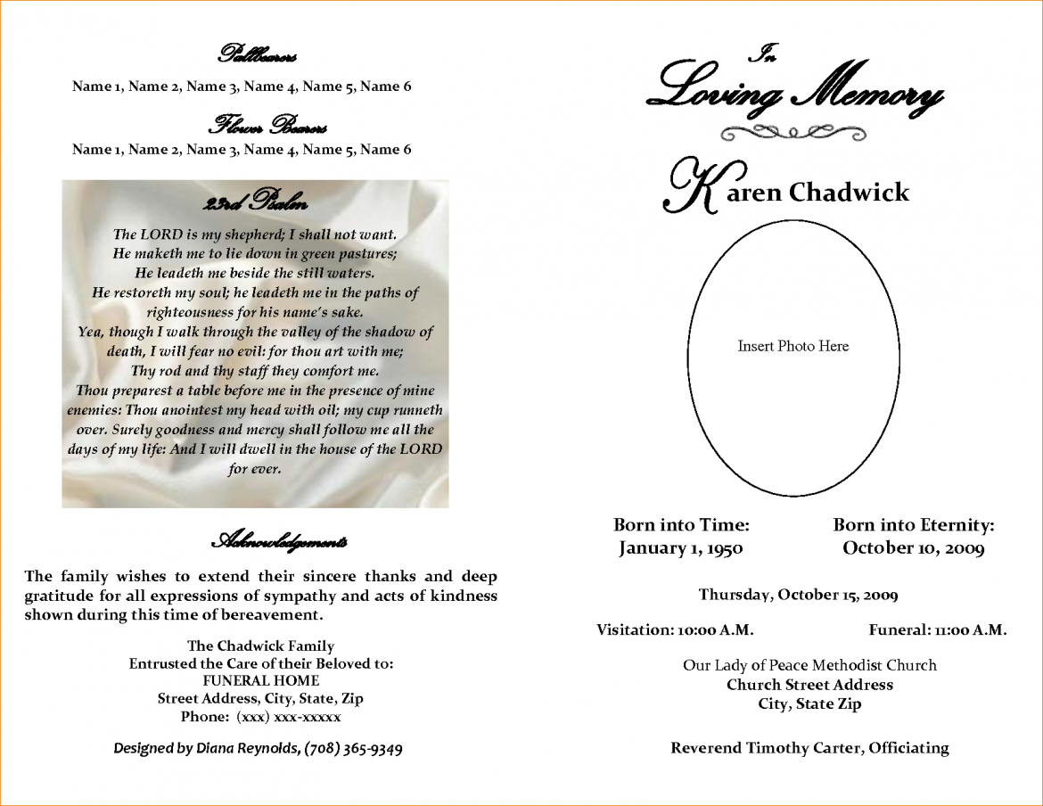 Free Printable Obituary Templates – Teplates For Every Day Regarding Fill In The Blank Obituary Template