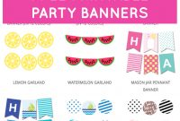 Free Printable Party Banners From Chicfetti  בר מצוה  Free regarding Free Printable Party Banner Templates