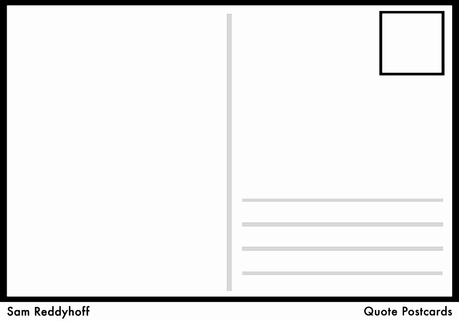 Free Printable Postcard Template Awesome Postcard Template Free Intended For Free Blank Postcard Template For Word