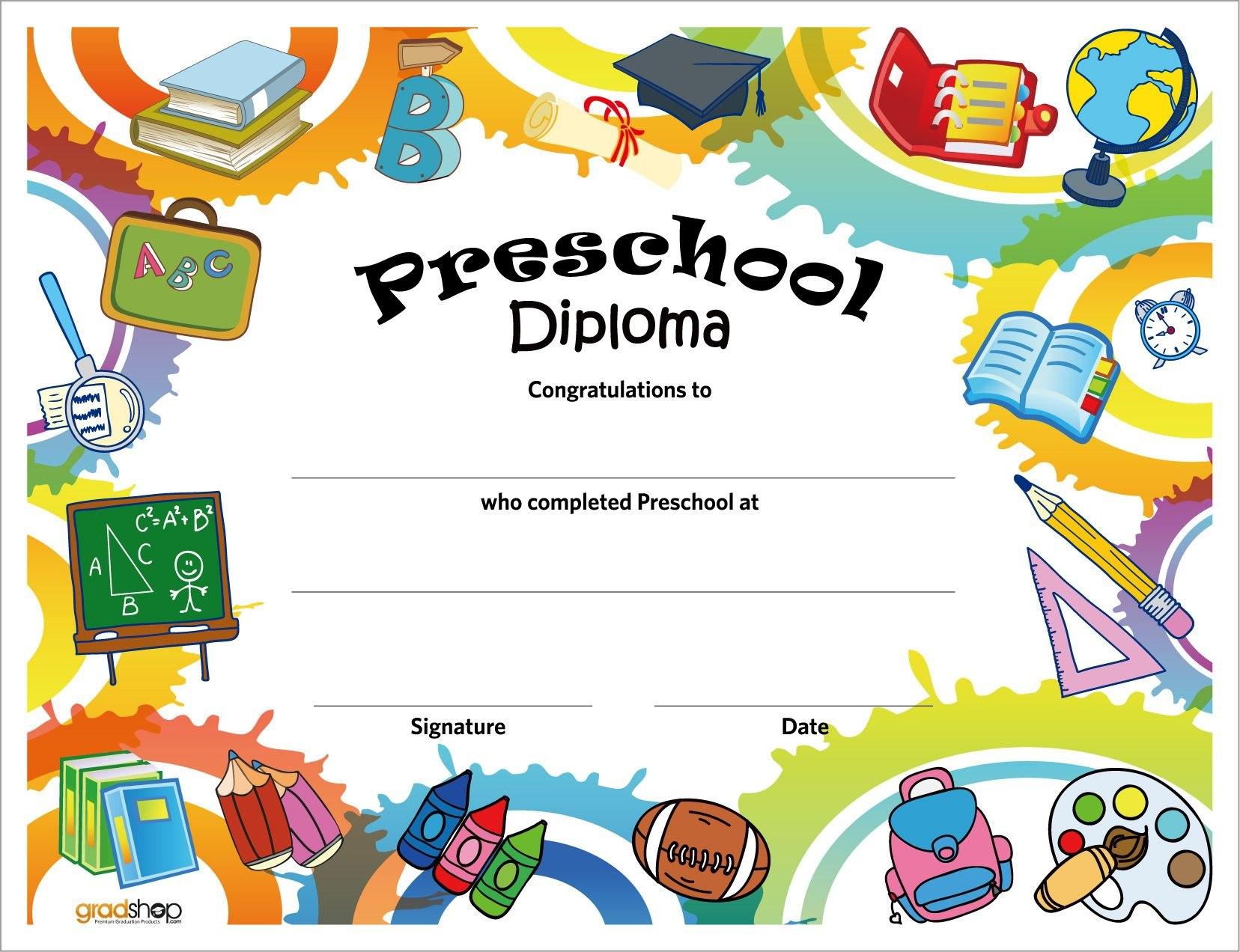 Free Printable Preschool Diplomas  Preschool Classroom Inside Free Printable Graduation Certificate Templates