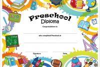 Free Printable Preschool Diplomas  Preschool Classroom inside Preschool Graduation Certificate Template Free