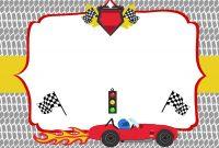 Free Printable Race Car Birthday Party Invitations   Free inside Blank Race Car Templates