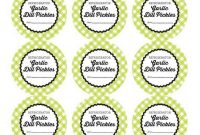 Free Printable Refrigerator Garlic Dill Pickles Canning Labels within Canning Labels Template Free