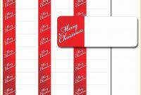 Free Printable Return Address Labels Templates Of Blank Address inside Christmas Return Address Labels Template