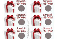 Free Printable Scratch Off Card For Businesses  Scratch Off in Scratch Off Card Templates