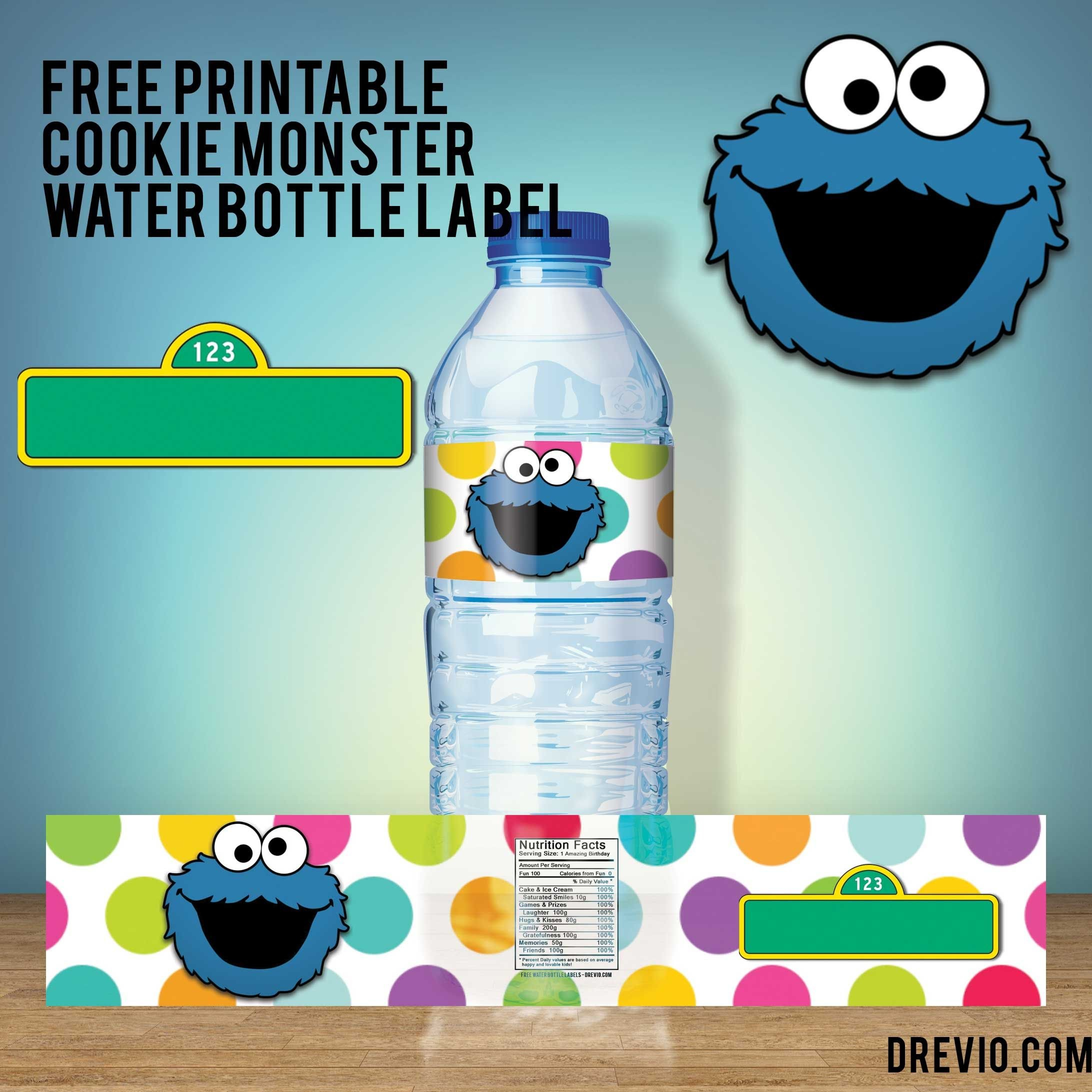 Free Printable Sesame Street Water Bottle Labels  Our Best Throughout Sesame Street Label Templates