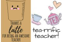 Free Printable Teacher Appreciation Thank You Cards  ✽ Back To regarding Thank You Card For Teacher Template