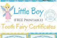 Free Printable Tooth Fairy Certificates  Fabnfree  Freebie Group regarding Tooth Fairy Certificate Template Free
