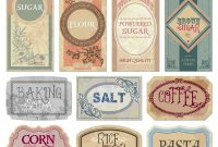 Free Printable Vintage Labels For Jars And Canisters To Organize with regard to Templates For Labels For Jars