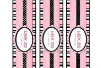 Free Printable Water Bottle Labels  Printables  Pink Water throughout Free Water Bottle Label Template Word