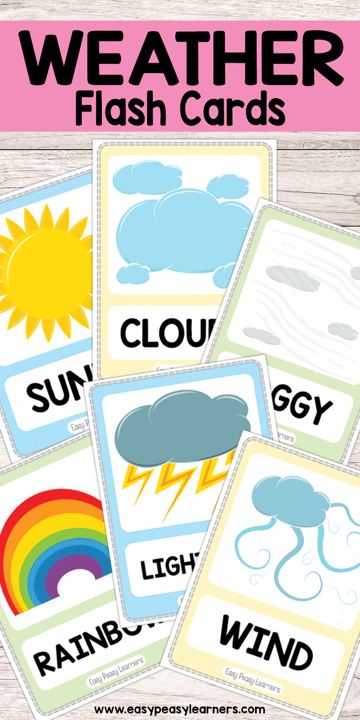 Free Printable Weather Flash Cards  Must Do Crafts And Activities With Kids Weather Report Template