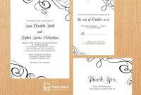Free Printable Wedding Invitations pertaining to Free Printable Wedding Rsvp Card Templates