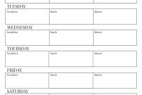 Free Printable Weekly Meal Plan Template  Paper Trail Design with regard to Blank Meal Plan Template
