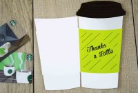 """Free Printables """"thanks A Latte"""" Cutout Gift Card Holder  Gcg throughout Thanks A Latte Card Template"""