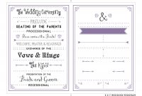 Free Program Templates For Word Template Ideas Wedding Per Page with Free Printable Wedding Program Templates Word