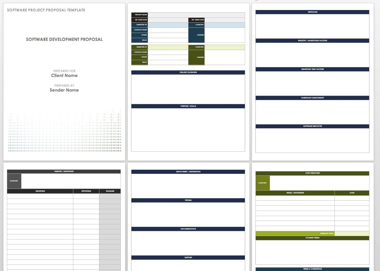 Free Project Proposal Templates  Tips  Smartsheet For Software Project Proposal Template Word