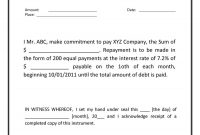 Free Promissory Note Templates  Forms Word  Pdf ᐅ Template Lab for Promise To Pay Agreement Template