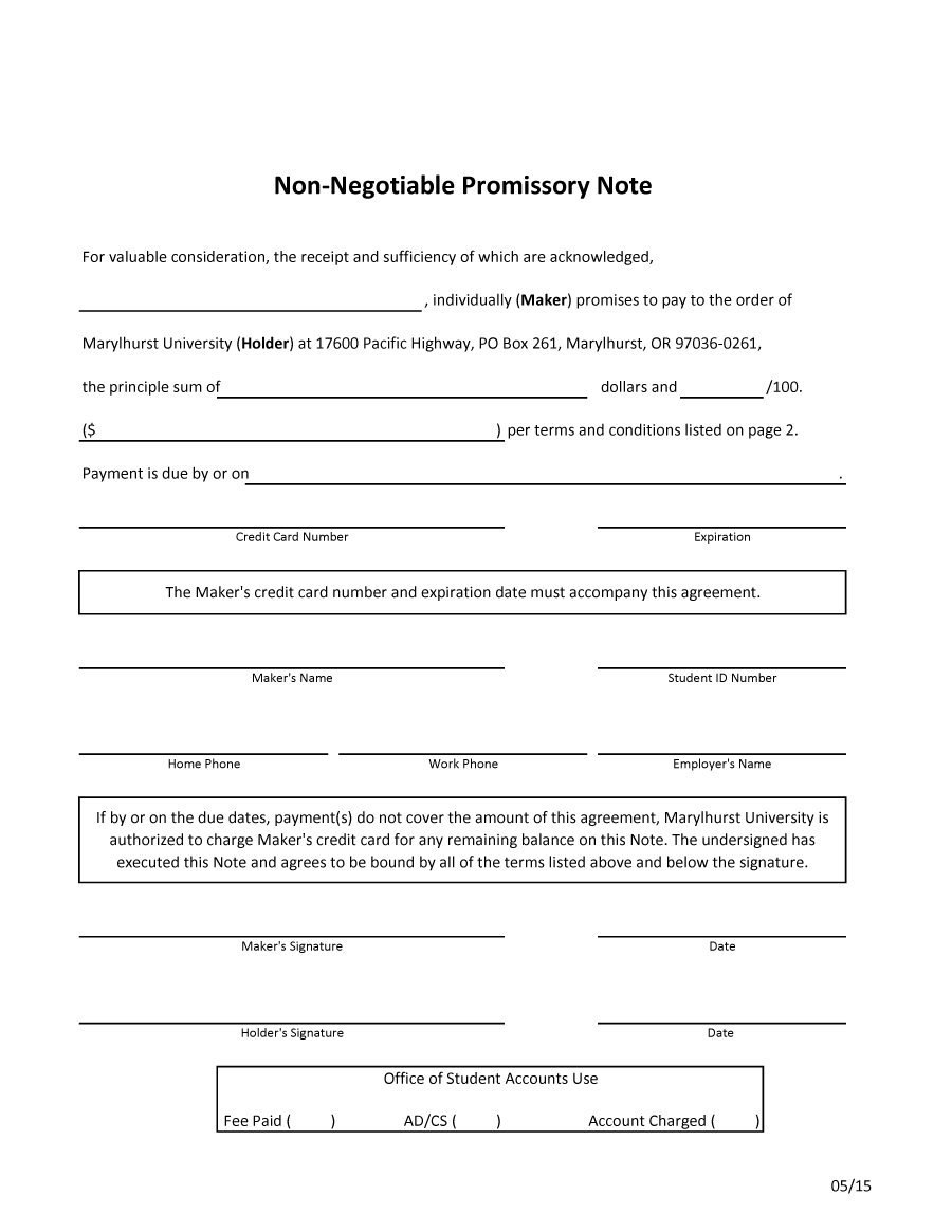 Free Promissory Note Templates  Forms Word  Pdf ᐅ Template Lab Inside Membership Card Terms And Conditions Template