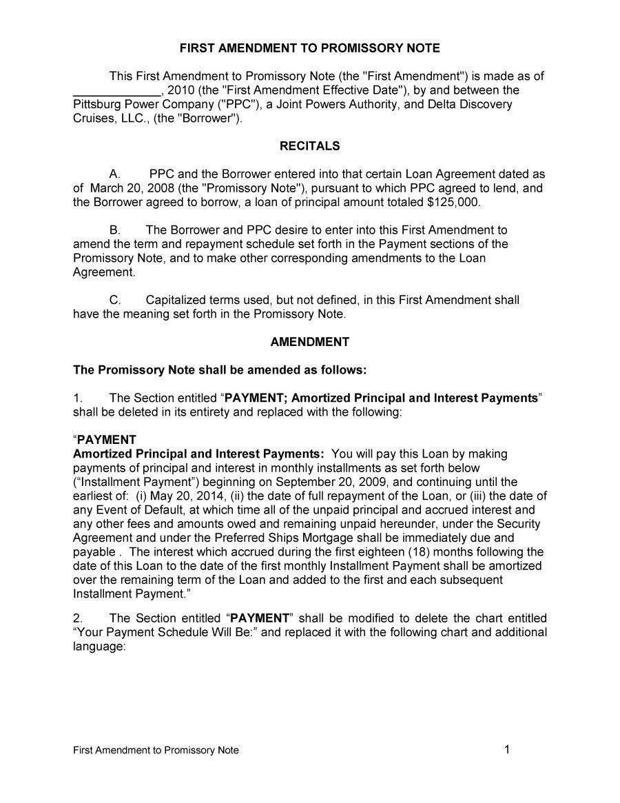 Free Promissory Note Templates  Forms Word  Pdf ᐅ Template Lab Throughout Non Recourse Loan Agreement Template