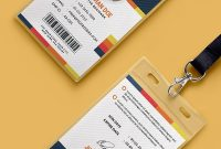 Free Psd  Creative Office Identity Card Template Psd On Behance with College Id Card Template Psd