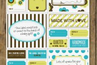 Free Quilt Labels Printable  Love Patchwork  Quilting throughout Quilt Label Templates