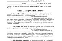 Free Real Estate Power Of Attorney  Word  Pdf  Eforms – Free with Joint Property Ownership Agreement Template