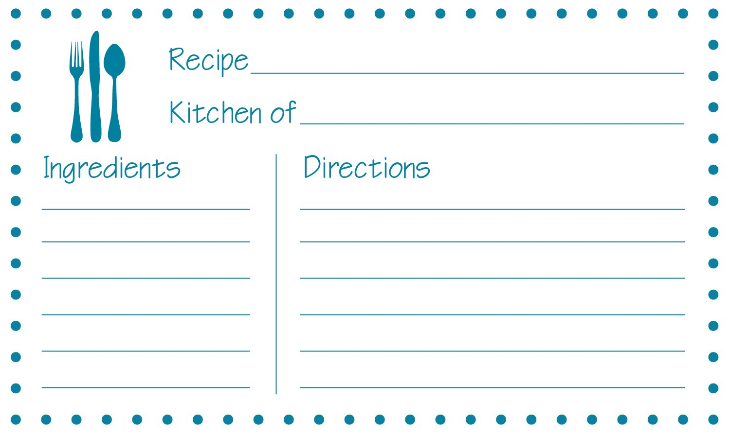 Free Recipe Card Templates To Type On And Print Cards Guvecurid Inside 4X6 Photo Card Template Free