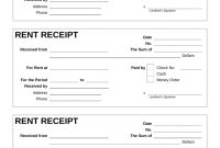Free Rent Receipt Template  Pdf  Word  Eforms – Free Fillable Forms in Invoice Template For Rent