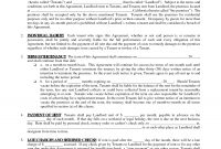 Free Rental Forms For Landlords To Print  Free Printable Lease intended for Business Lease Agreement Template