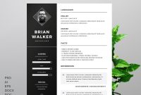 Free Resume Template For Word Photoshop  Illustrator On Behance in How To Find A Resume Template On Word