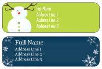 Free Return Address Label Template  Pictimilitude inside Christmas Return Address Labels Template