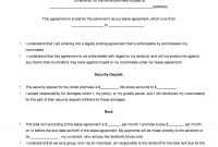 Free Roommate Agreement Templates  Forms Word Pdf in House And Flat Share Agreement Contract Template