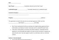 Free Roommate Room Rental Agreement Template  Pdf  Word  Eforms in Bedroom Rental Agreement Template
