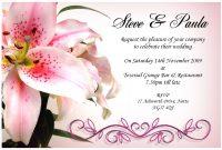 Free Sample Wedding Invitations Templates intended for Sample Wedding Invitation Cards Templates