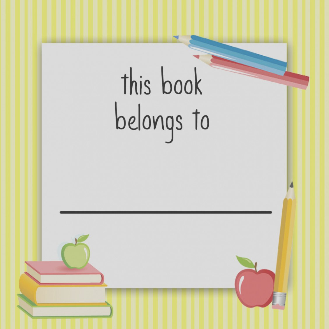 Free School Book Label Templates Free Printable School Labels Books Regarding Book Label Template Free