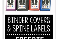 Free Secondary Math Binder Covers And Spine Labels  Success In with Folder Spine Labels Template